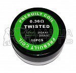 Готовый коил Twisted Kantral wire 26AWG*2  0.36ohm A358 — минифото