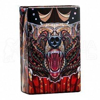 Портсигар 4123020 Медвежья Ярость, открывается от нажатия, пластик, 9,5*3*6см